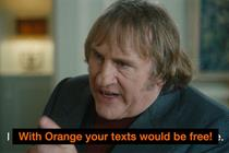 Orange 'gold spot featuring Gerard Depardieu' by Fallon