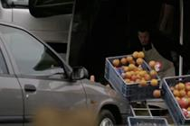 "Axa France ""crazy driver on market day"" by Publicis Conseil"