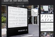 Solidarité Sida (AIDS Solidarity) 'clocks' by Euro RSCG France
