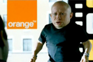 Orange 'verne troyer gold spot' by Mother London