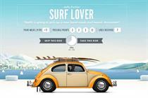 VW Beetle 'hitchhike with a like' by Tribal DDB Amsterdam