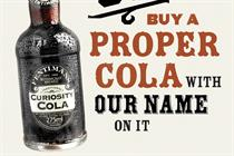 "Curiosity Cola ""proper cola"" by Sell! Sell!"