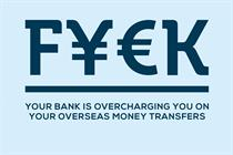 "Transferwise ""fluent in cash"" by Creature London"