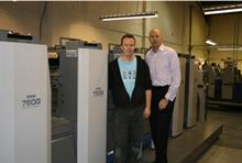 Print technician Mick Jeans (left) with Chris Goslar