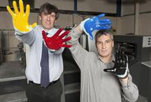 David Pealing (left): Severnprint trying to reduce water consumption
