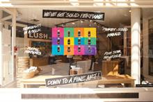 Print campaign at high-street cosmetics chain Lush