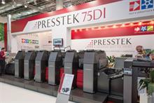 Presstek's upgraded 75DI press, which was unveiled at Drupa 2012