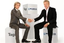 Tag chief executive, Steve Parish with Williams Lea chief executive Tim Griffiths