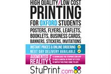 Stuprint.com will hand out flyers at Oxford University's Fresher's Fair today