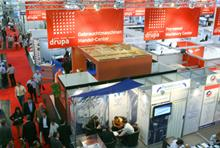 On the show floor at Drupa 2008, the success of which is hoped to be repeated