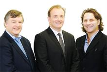 The 2009 MBI team, Alistair Stewart (left) chairman David Mitchell (right) and chief executive Trevor O'Reilly (centre), all of whom have now left the business