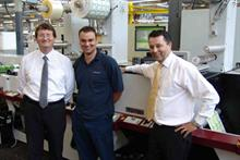(l-r) production manager Malc Keightley, P5 operator Chris Patchett and operations director Mick Shooter
