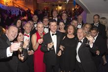 The RDI team toast their success at the PrintWeek Awards
