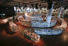 The aMAZEme book installation at London's Southbank