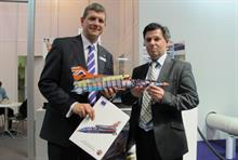 FFEI managing director Andy Cook (l) with Color Confidence's Simon Prais at Drupa