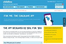 Children can find counselling through Childline app