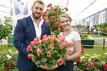 Chris Robshaw and Camilla Kerslake launch rose variety for Macmillan