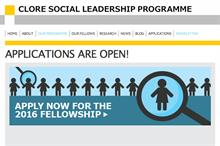 Clore Social Leadership Programme opens applications for 2016