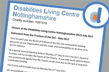 Cuts to local government funding spell end for Nottinghamshire disability charity