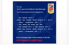 Digital Campaign: Blind Veterans UK's Morse Code Machine commemorates the charity's centenary with dots and dashes