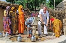Celebrities: Water Aid ambassador Hugh Bonneville visits sanitation projects in India