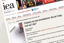 Think tank blog compares Gift Aid to tax-avoidance schemes in general