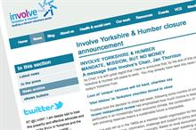 Involve Yorkshire and Humber to close with the loss of five jobs