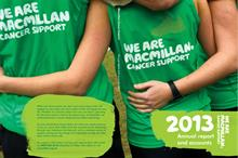 Macmillan Cancer Support's income rose by nearly a quarter last year
