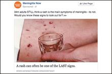 Facebook refuses to reverse Meningitis Now advert ban