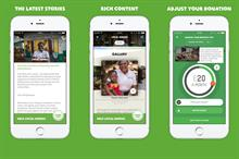 Oxfam launches easy-giving app