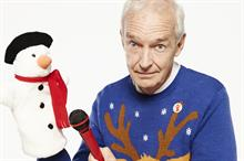 Jon Snow sports a Christmas jumper to support Save the Children