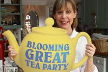 Mel Giedroyc helps launch Marie Curie Cancer Care's Blooming Great Tea Party