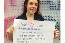 The lessons that CRUK learned from nomakeupselfies