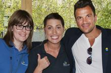 Peter Andre visits Children's Trust centre in Surrey