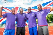 Jason Gardener, Darren Campbell, Marlon Devonish and Mark Lewis-Francis volunteer for Join In Summer Relay