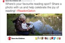 Save the Children UK wants to know your favourite reading spot