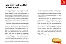 McDonald's lauds fame of gherkin in quirky print ad