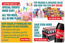 Poundland online trial offers 'shuffle shopping' and scratch cards