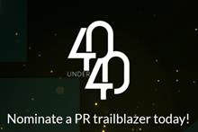 Nominations open for PRWeek's 40 Under 40 2017
