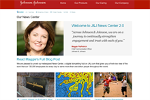 J&J redesigns news center to tell visual stories in real time