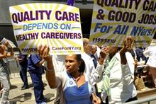 Union wins battle for New York healthcare workers
