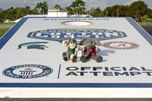Goodyear breaks world record to showcase affiliation with sports
