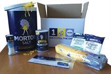 Presents for consumers on Morton Salt Girl centennial