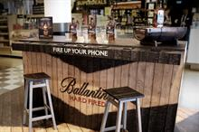 Ballantine's creates multi-sensory bar for airport activations