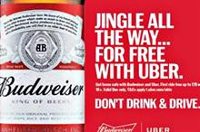 Budweiser partners with Uber for responsible drinking campaign