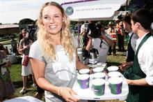 In pictures: Caroline Wozniacki serves up Lavazza coffee at Wimbledon