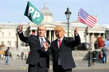 In pictures: Paddy Power launches prosthetic presidents in London