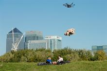 Orchard Pig's flying farmyard animal delivers cider to Londoners