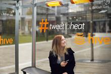 Hive erects #TweettoHeat bus shelter