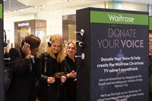 In pictures: Shoppers donate voices for Waitrose activation